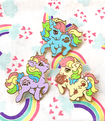 Rainbow Little Pony Enamel Pin Set 3 - PREORDER
