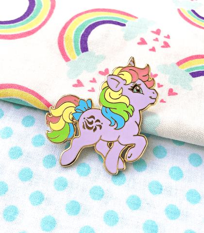 Rainbow Little Pony Windy Unicorn Enamel Pin - PREORDER