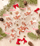 Santa's Reindeer Vinyl Stickers - Dasher, Dancer, Prancer, Vixen, Comet and Cupid