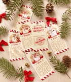 Santa's Reindeer Wood Ornaments gift tags