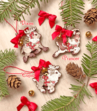 Santa's Reindeer Wood Ornaments - Vixen, Prancer and Cupid