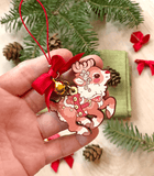 Santa's Reindeer Wood Ornament Garland Rudolph