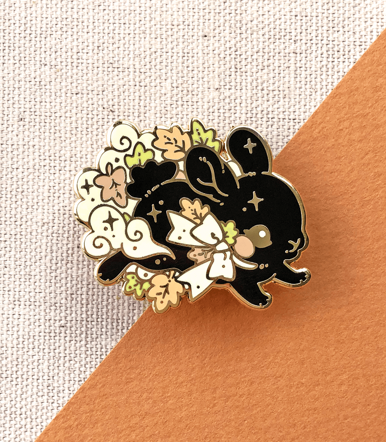 Spirit of Autumn Bunny Enamel Pin
