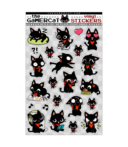 The Gamercat stickers