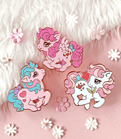 Valentine's Little Pony Enamel Pin Set #4