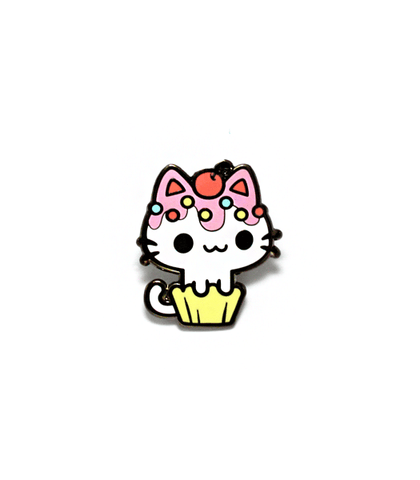 Cupcake Kitty enamel pin