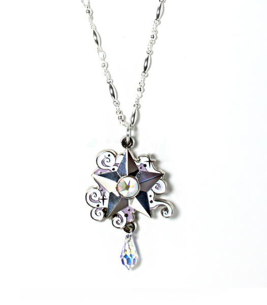 Silvery Wishing Star Necklace