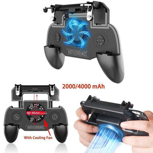 Mobile Game Controller With Cooling Fan and Powerbank