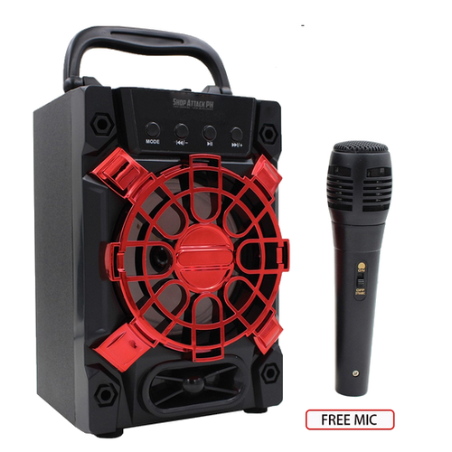 PORTABLE KARAOKE SPEAKER WITH FREE MICROPHONE