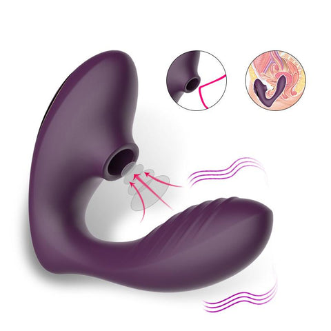 Image of Wearable G-Spot Sucking And Vibrating Sex Toy With 10 Frequencies