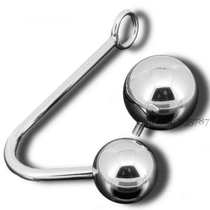 Anal Hook With 2 Replaceable Stainless Steel Ball