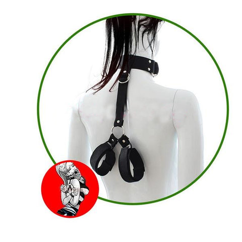 Hand And Neck Connecting Bondage Restraint Kit