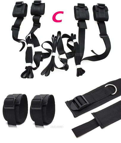 Image of 11 Type Erotic Bed Positioning Restraint Kit