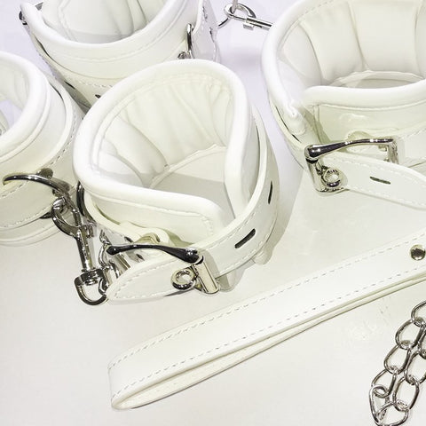 Image of Luxury Soft White Restraints Bondage Set