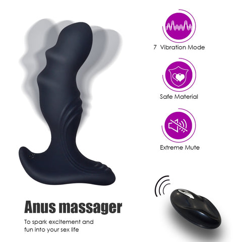 Remote Controlled Anal Vibrator With 7 Vibrating Frequencies