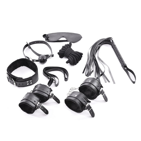 Image of Leather BDSM Restraint Set For Bondage Fetish