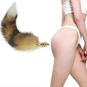 3 Types Fox Tail Butt Plugs Anal Masturbator