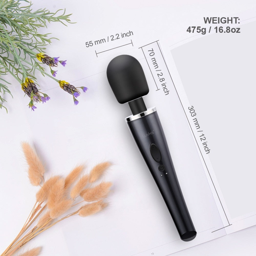 10 Speeds Waterproof Clit Vibrator for Women Black