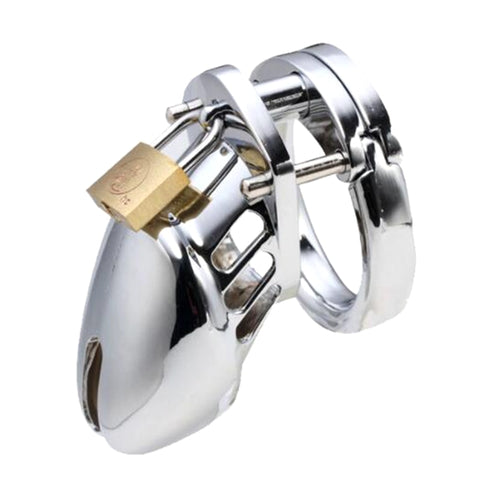 Image of Male Metal Chastity Device Cock Cage
