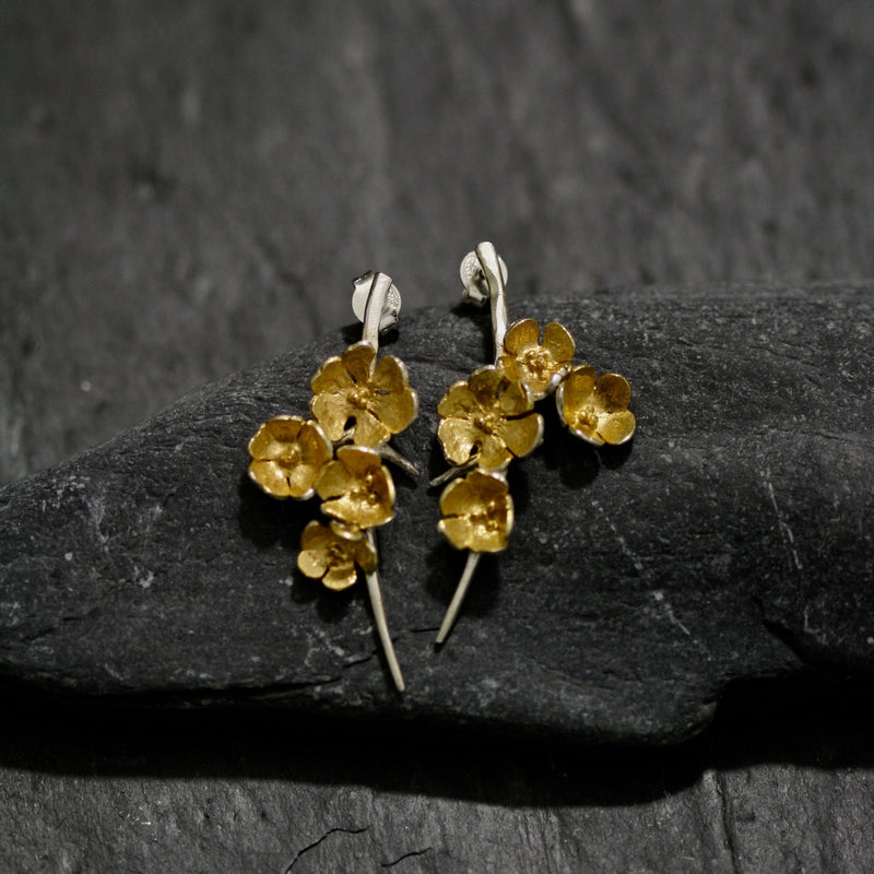 Apple Blossom Medium Stud Earrings
