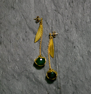 Buttercup and Facetted Stone Earrings