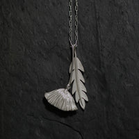 Californian Poppy and Leaf Necklace