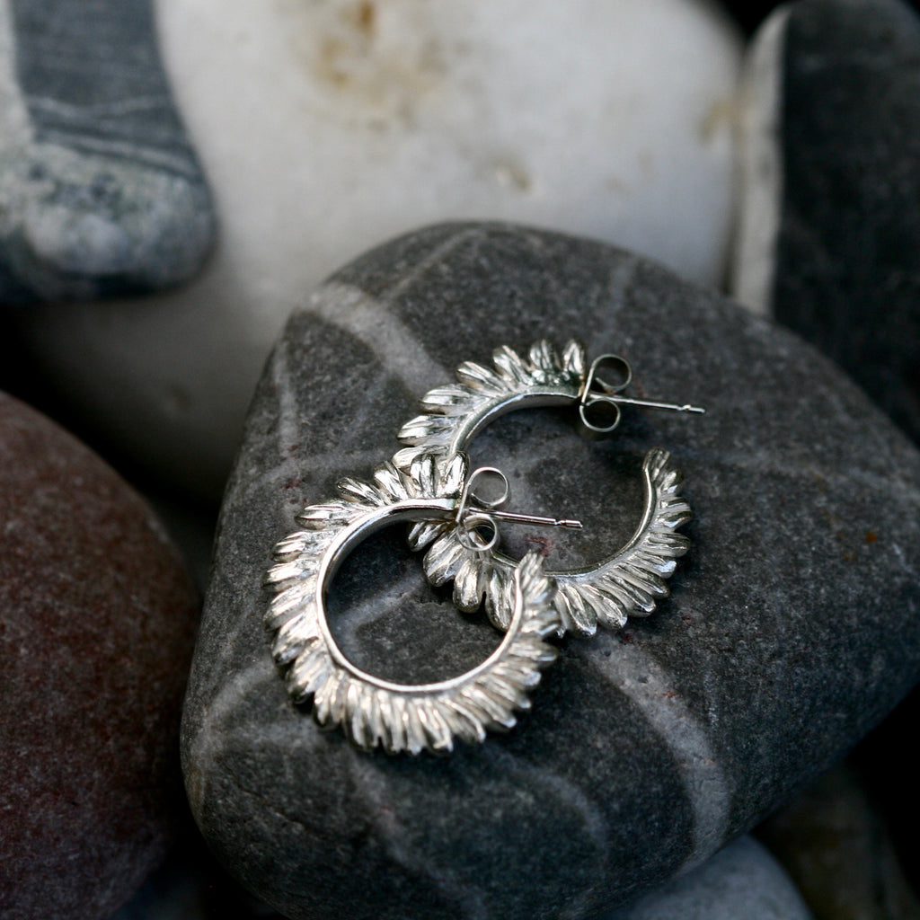 Fern Hoops Earrings
