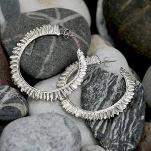 Fern Large Hoops Earrings