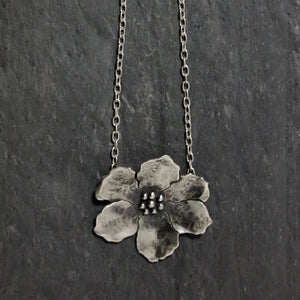 Large Wild Rose Necklace