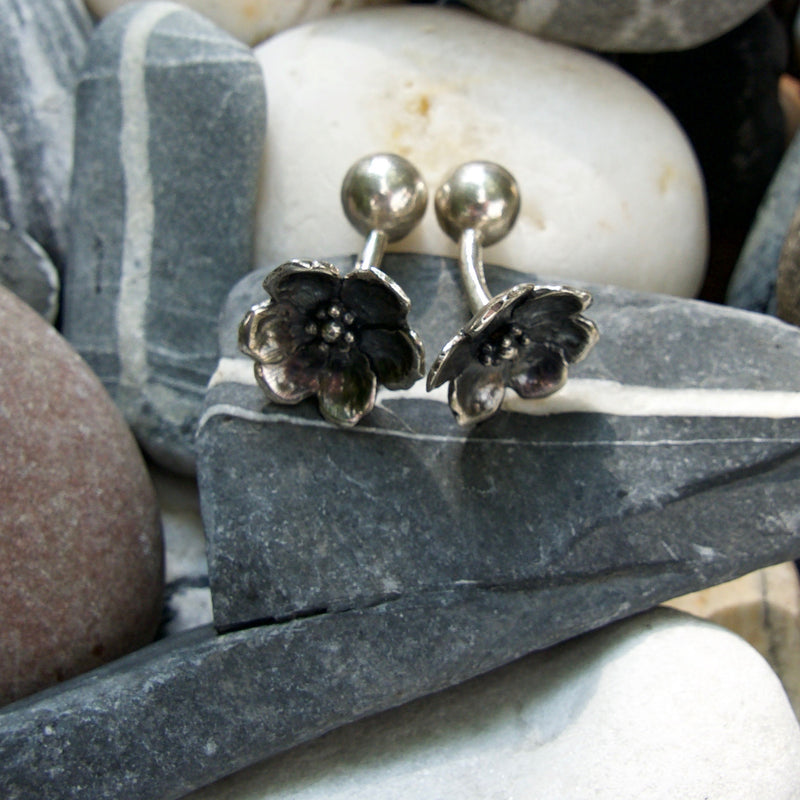 Small Wild Rose Cufflinks