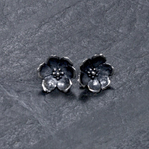 Small Wild Rose Stud Earrings
