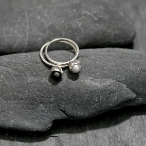 Pearl and Bud Stud Ring