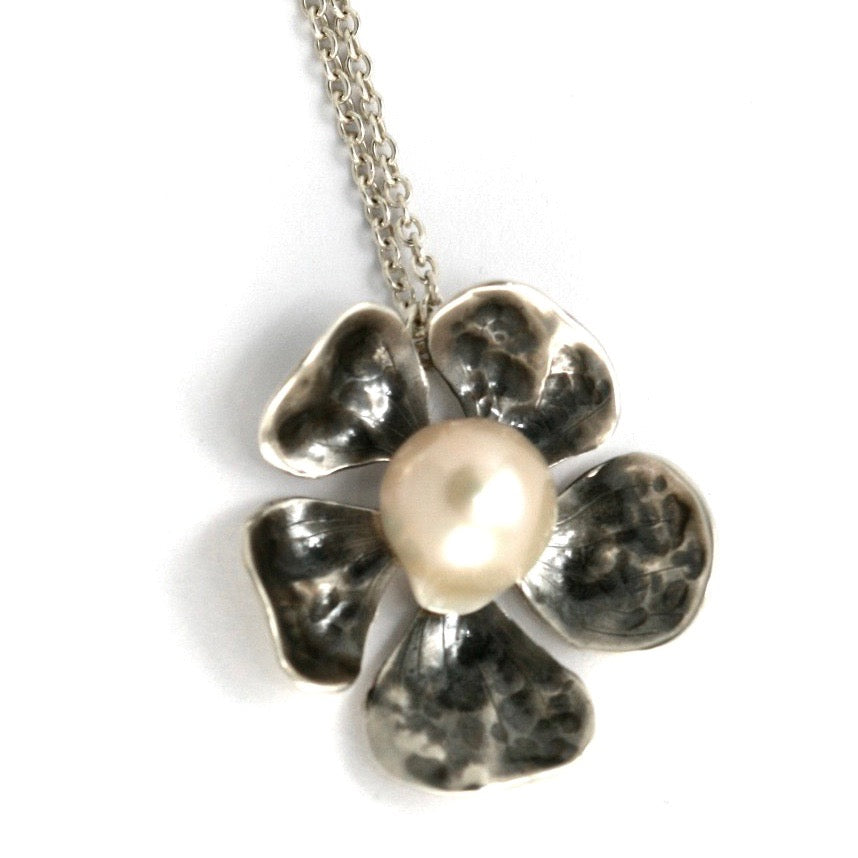 Pearl Rose Necklace