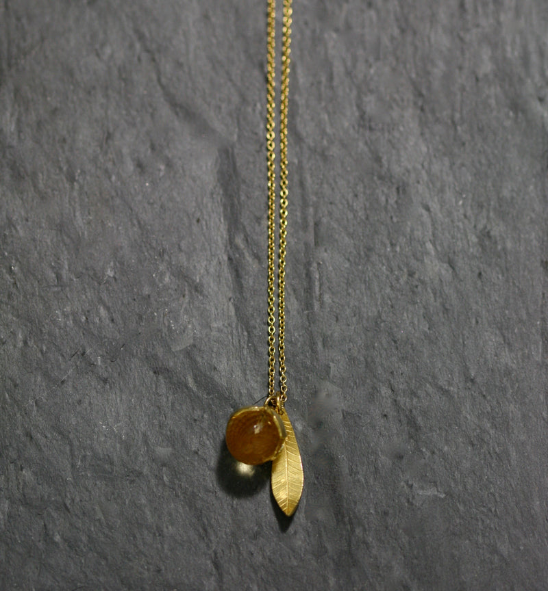 Buttercup and Facetted Stone Necklace