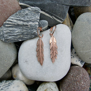 Californian Poppy Leaf Earrings
