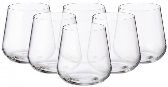 Crystalite Bohemia - Amundsen/Ardea Stemless Old Fashioned Glasses 11 Ounces (320ml) Set of 6