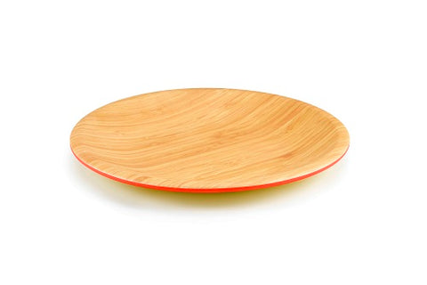 Image of Brilliant - Orange/Papaya Colored Bamboo Dinner Plate 10.5 inches, Set of 4