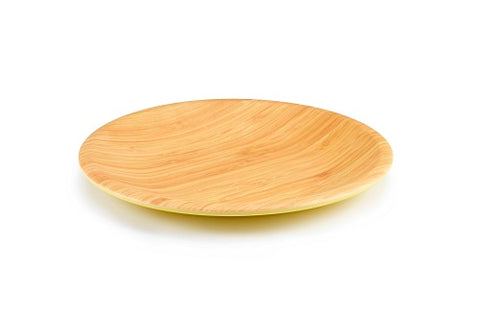 Brilliant - Yellow Colored Bamboo Dinner Plate 10.5 inches, Set of 4