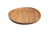 Bamboo Walnut and Coffee Colored Bamboo Reusable Plates 9.5 Inches, Set of 3