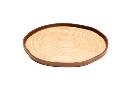 Bark Bamboo Salad Plates 8 Inches, Set of 4