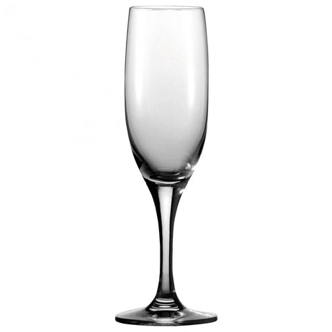 Guy Degrenne - Montmartre Crystal Clear Champagne Flute Glass with Stem, 7 oz. Set of 6