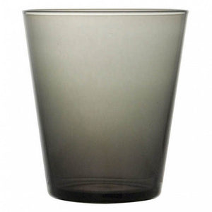 Guy Degrenne - Mambo Grey Stackable Drinking Glass Tumbler, 11oz. Set of 6