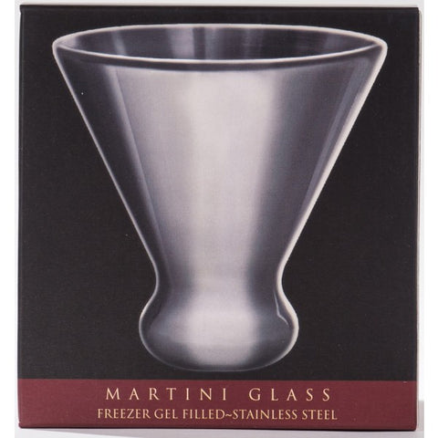 Image of CorkPops - Nicholas Stainless Steel Martini Glass