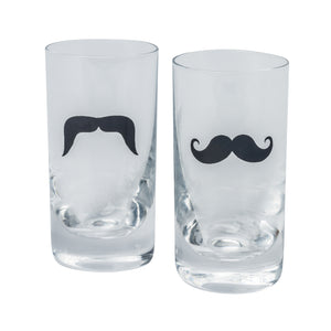 Brilliant - Mustache Shooter/Shot Glass 2.5oz. Set of 6