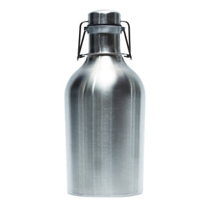 Brilliant - Europa Stainless Steel Beer Growler, Double Walled, 64 oz. 1.8 Liter