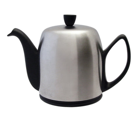 Image of Salam Matte Black 8 Cup Tea Pot by Guy Degrenne