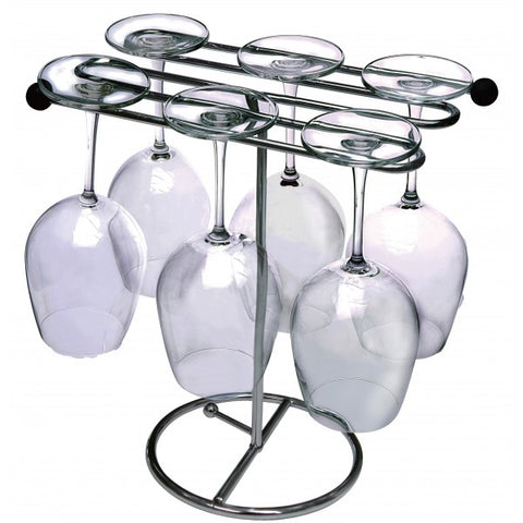 Brilliant - Stemware Glass Drying Rack and Decanter Dryer Stand - Two In One