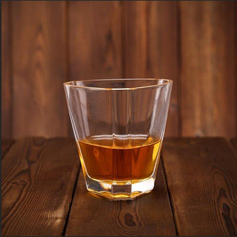 Triangle Whiskey Glasses 10 Ounces, Set of 6