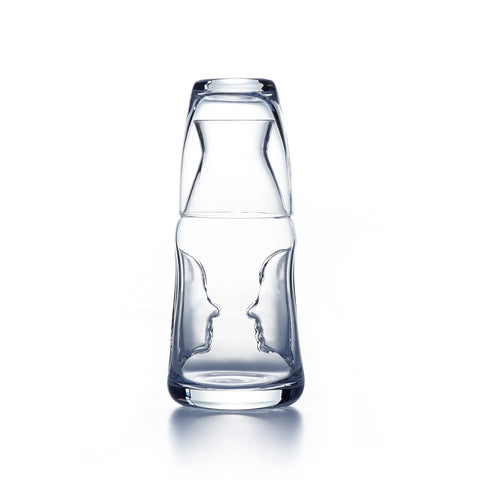 Image of Visage Face To Face Bedside Carafe and Glass Set