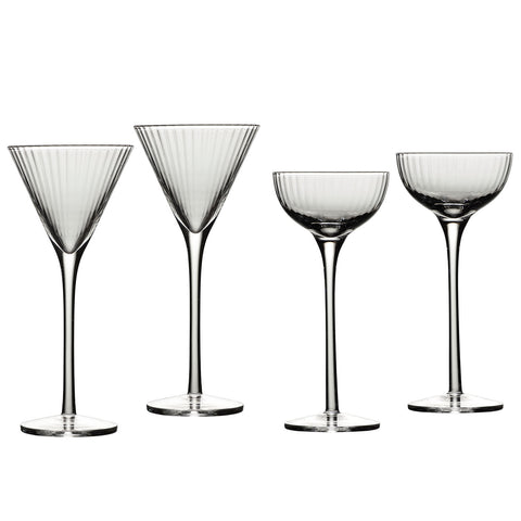 Image of Degustation Tall Stemmed Cordial Glasses 2.5 Ounces, Set of 4 Assorted Shapes